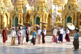 YANGON, MYANMAR - JANUARY 29 : The Shinpyu ceremony in the Shwed