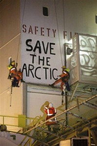 Greenpeace boards 2 drill rigs in Arctic protest