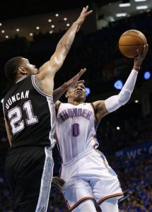Thunder beat Spurs 106-97, cut deficit to 2-1