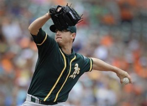 Moss hit a grand slam as Athletics beat Orioles