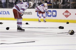 Rangers eliminated by Kings in 3-2 double OT loss