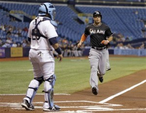 Solano's 3-run homer helps Marlins beat Rays 5-4