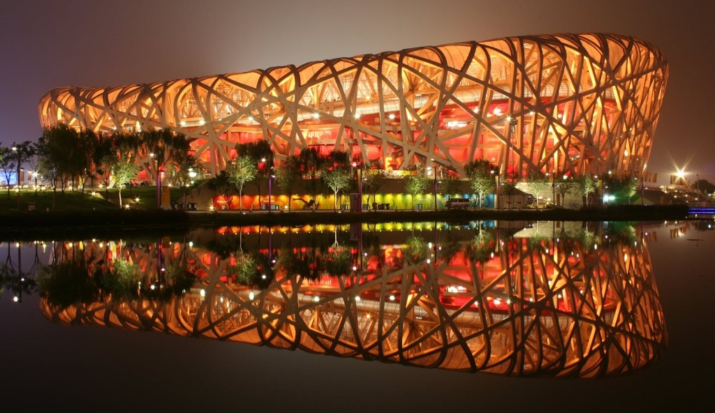 Built for the 2008 Summer Olympic Games, the Beijing National Stadium remains one of the most prominent structures in the city. Because of its web of steel beams, the stadium was nicknamed the The Bird's Nest. The internationally renowned project cost $428 million to build and can accommodate up to 91,000 people. In November 2013, the Chinese Olympic Committee submitted a bid for Beijing to host the 2022 Winter Olympic Games. If the bid comes to fruition, the Beijing National Stadium will be the first stadium to host the opening ceremonies for both the Summer and Winter Olympic games.