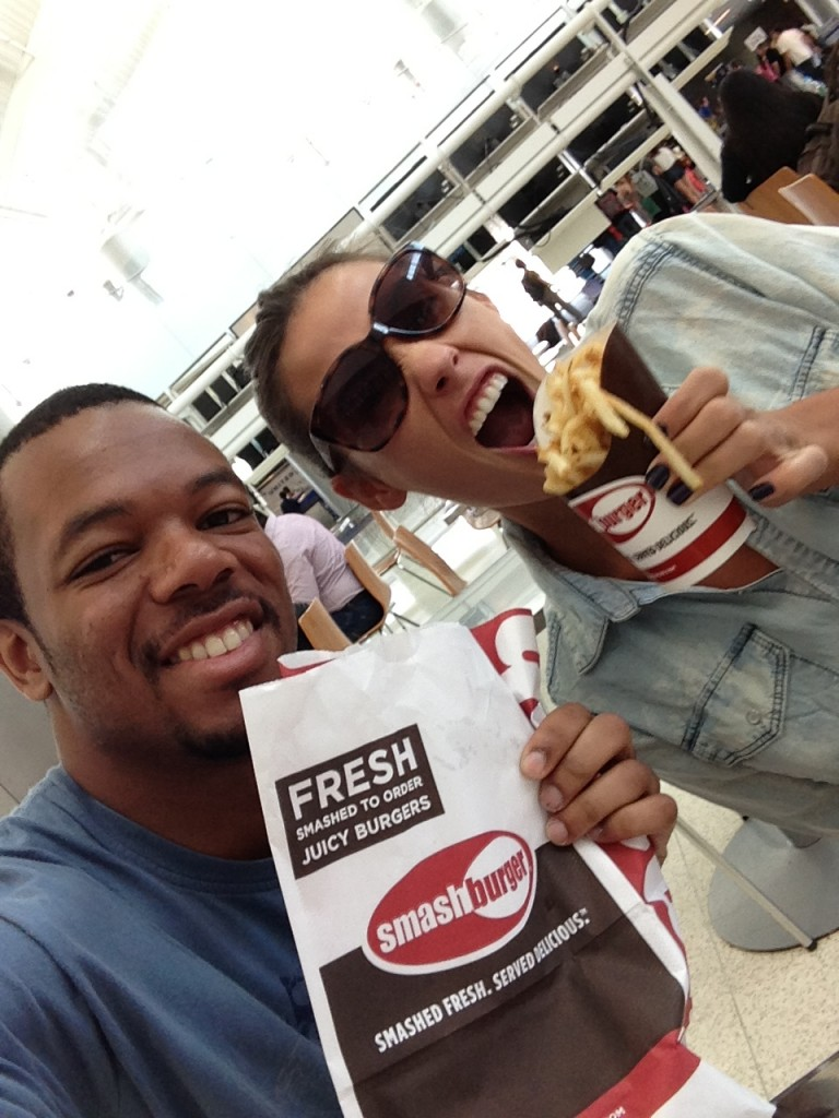 Last meal in the U.S.!! #Smashburger