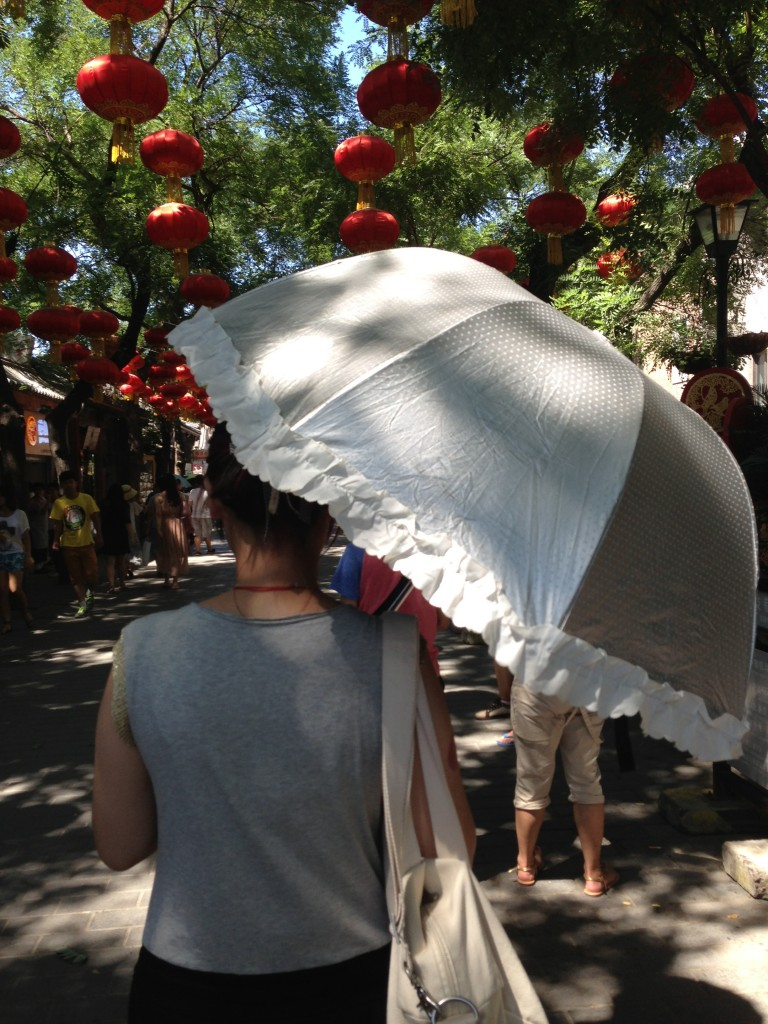 Walking around the Hutong...narrow alleyways and streets with shops!
