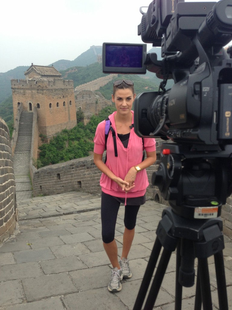 Reporting from the Great Wall.