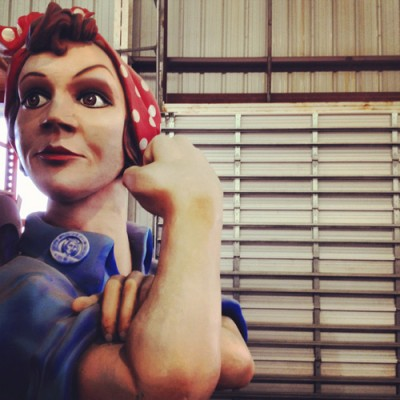 Rosie the Riveter.