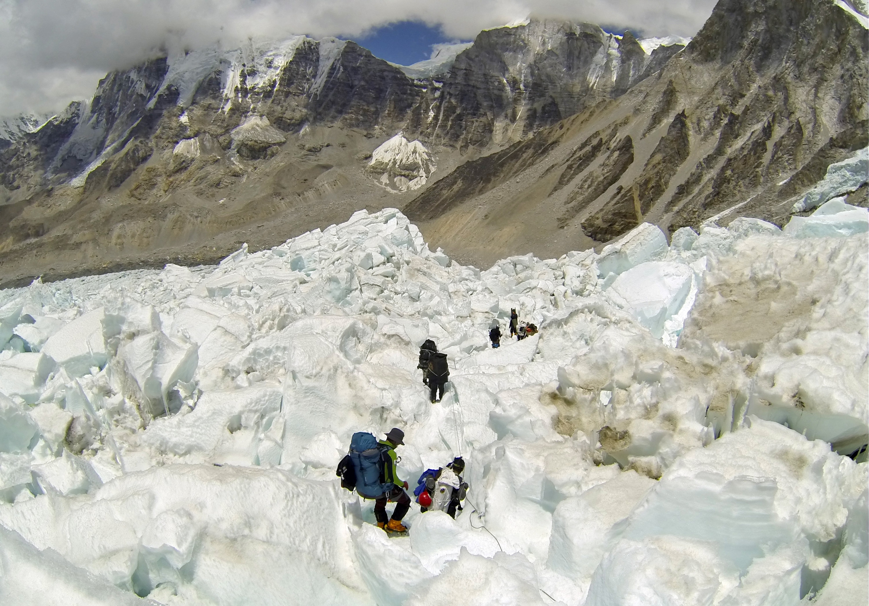 Climate change is likely to make climbing Everest more dangerous than in the past. Photo: Associated Press