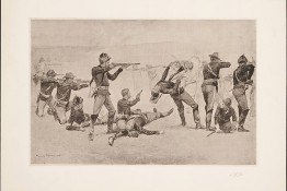 640px-The_opening_of_the_fight_at_Wounded_Knee_by_Frederic_Remington_1891