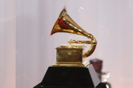 LOS ANGELES, CA - JAN 31: Grammy statue at the 52nd Annual GRAMM