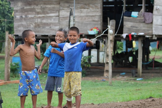 Some of kids in the village were playing and showing off! They seemed especially interested in our camera, and the gear we had.