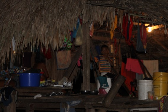 We made it back to the village after trudging through the dense jungle that day. Everyone was calling it a night, and getting to bed.