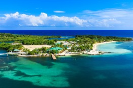 Panoramic view of the Roatan Island Honduras