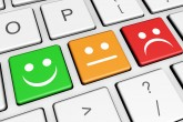 Business quality service customer feedback rating and survey keys with smiling face symbol and icon on computer keyboard.