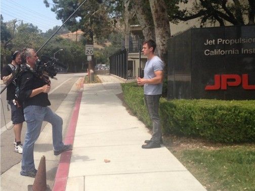 What a great day checking out some cool space stuff at NASA's Jet Propulsion Lab in Pasadena, Calif.