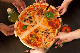 Pizza- food with friends- inserted into the pizza oven