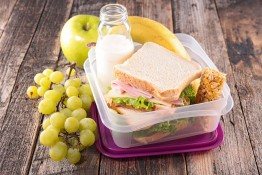 lunch box,school lunch with sandwich