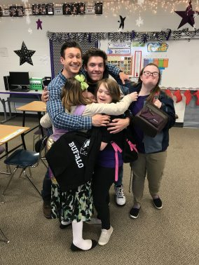 The students here wouldn't let me leave without a group hug. It was a special moment and I definitely felt the love.